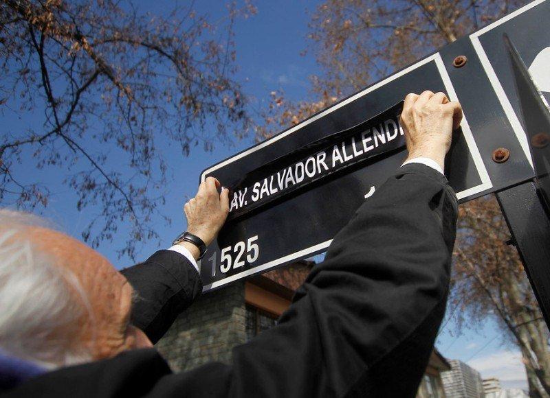 Arrate cambiando nombre de calle a Salvador Allende